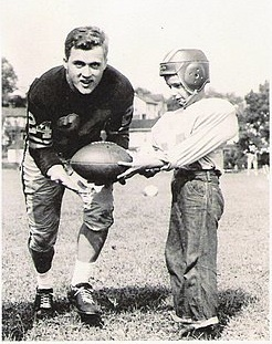 billy petit wells playing football