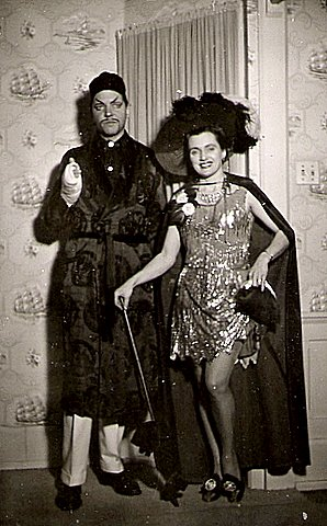 john and tilly wells at  burke's costume party